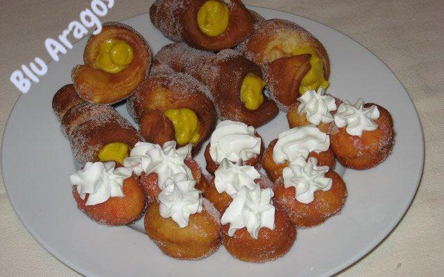 Cannoli fritti con crema all'arancia da Sal de Riso