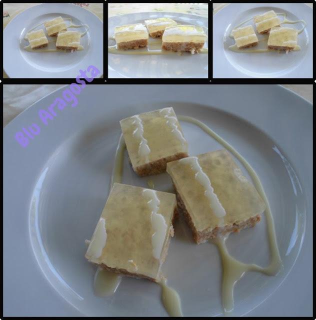 Delizie al limone e latte condensato su pasta di biscotti