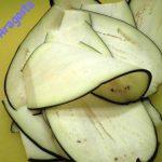 melanzane affettate molto sottili
