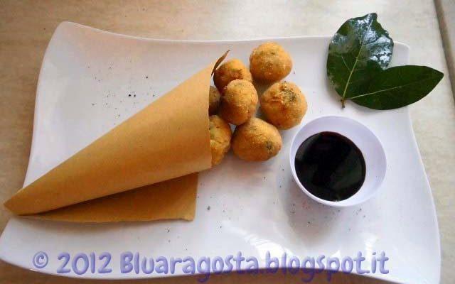 Quenelles (polpette) di pesce spada ai peperoni e salsa di soia