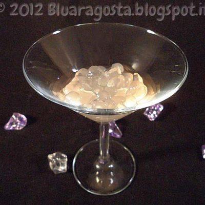 mettiamo uno strato di perle sul fondo del bicchiere