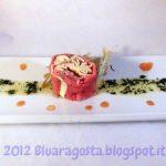 maki di carpaccio e tagliatelle con burro al tartufo