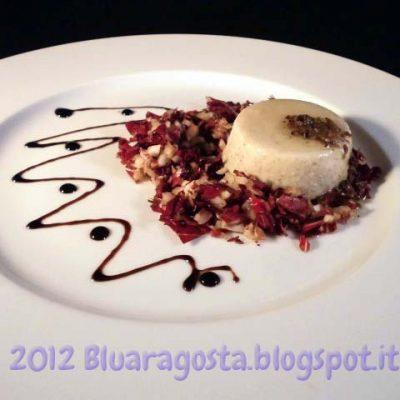 panna cotta ai funghi con salsa di tartufo