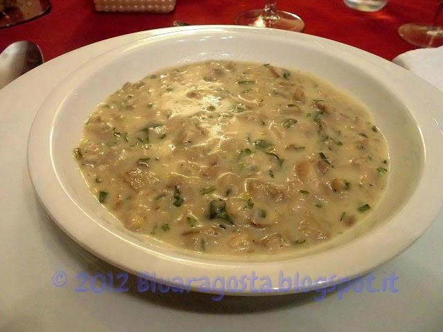 Cream of mushroom soup, crema di funghi
