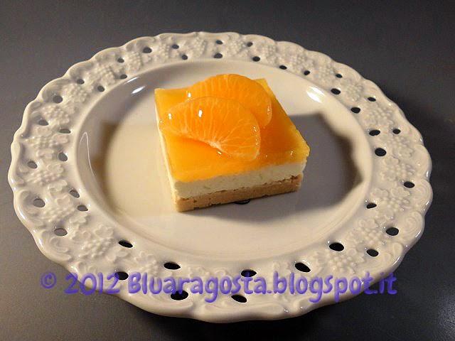 Cocco cheesecake con gelatina di mandarini