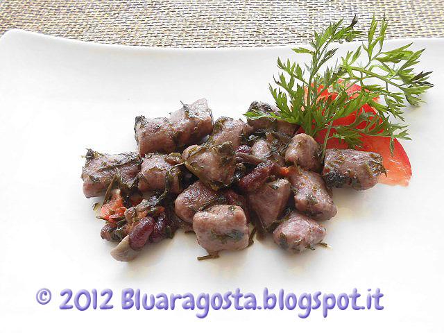 gnocchi di fagioli rossi con foglie di carote