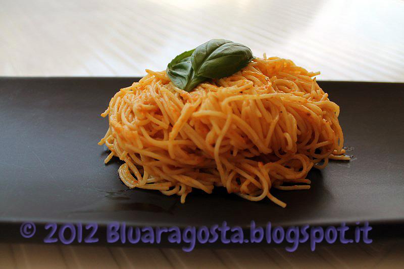 Capellini alla crema di peperoni e mascarpone