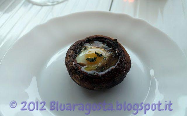 Champignon con uova di quaglia