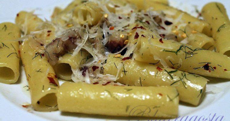 Pasta con finocchietto e pancetta