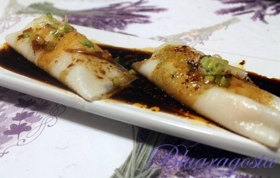 Steamed rice rolls, roll di riso a vapore cinesi